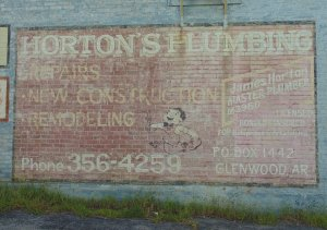 Old Horton's Plumbing Sign Glenwood , Arkansas