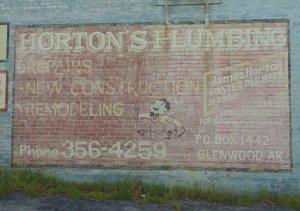 Old Horton's Plumbing Sign Glenwood , Arkansas